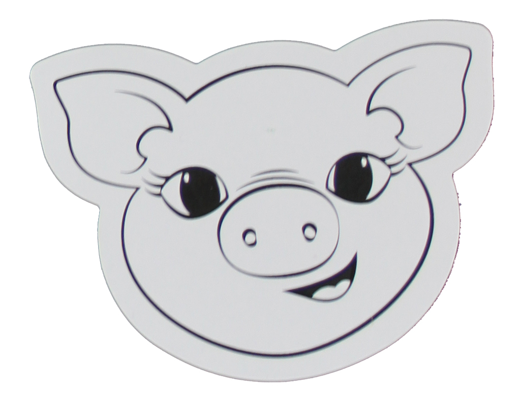 *SPECIAL: Die Cut Head Cardboard Shapes 24pk - Pig