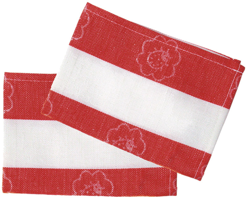 Gluckskafer Baking Accessories - Tea Towels Red & White 2pcs