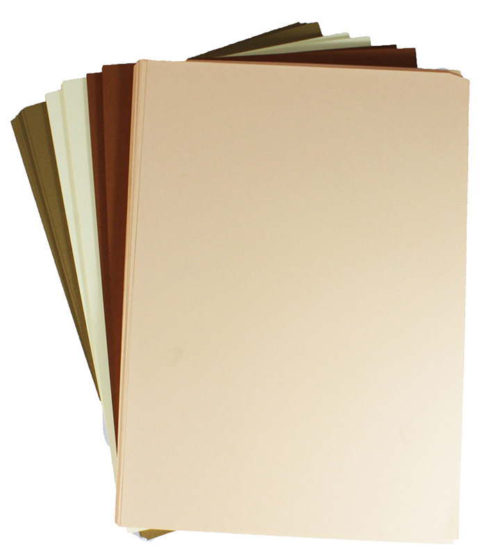 Cover Paper 125gsm Skin Tones 250pk - A3 Assorted