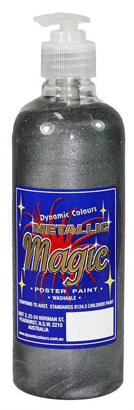 Metallic Magic Poster Paint 500ml - Silver