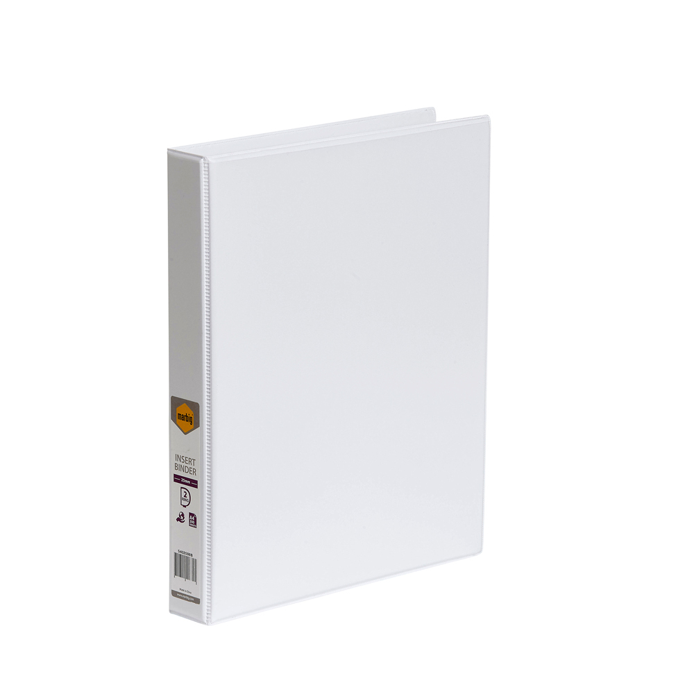 Marbig Enviro Insert Binder A4 - 25mm 2D Ring White