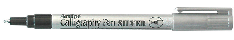 Artline 993 Calligraphy Metallic Marker - 2.5mm Silver