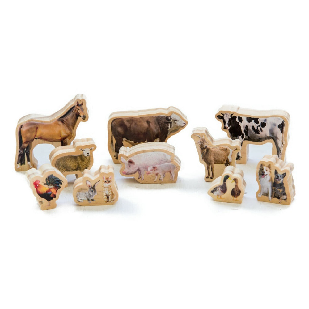 Wooden Farm Animals - 10pcs