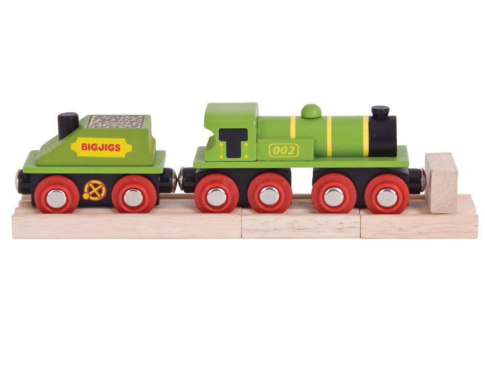 Bigjigs Big Green Engine - 5pcs