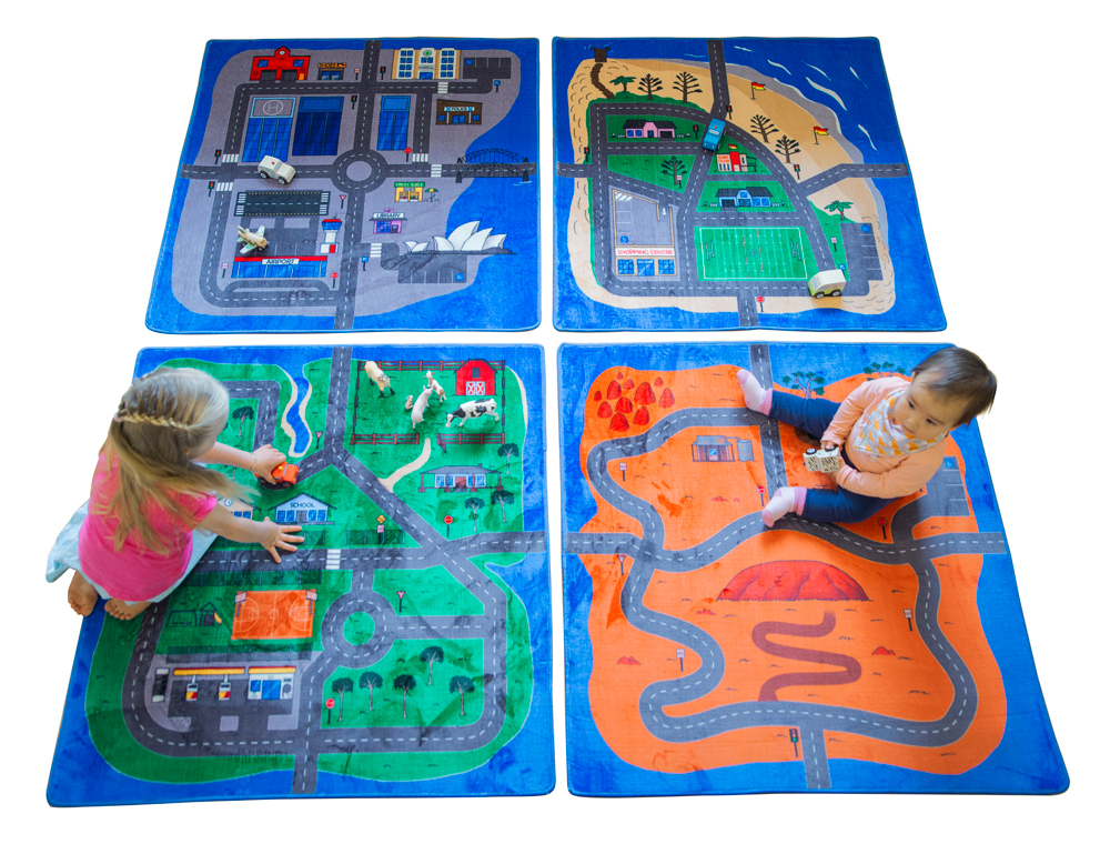 Australian Road Map Activity Carpet Squares - Set of 4