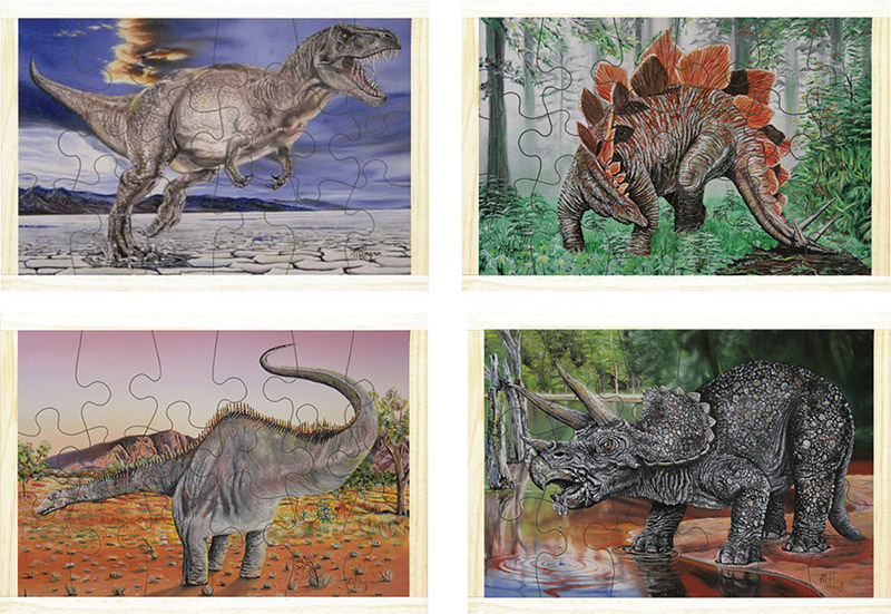 Dinosaur Puzzles - Set of 4