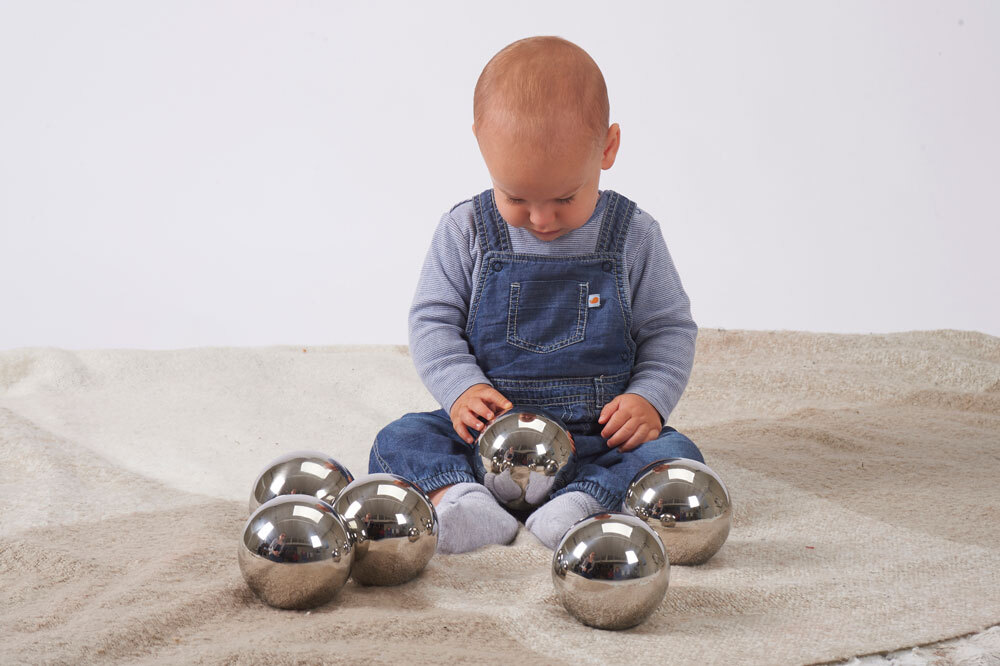 Sensory Reflective Mystery Balls - Set of 6
