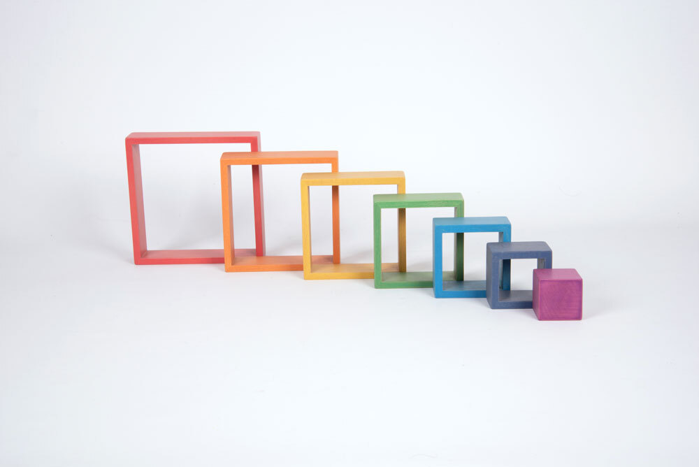Rainbow Architect Shapes - Squares 7pcs