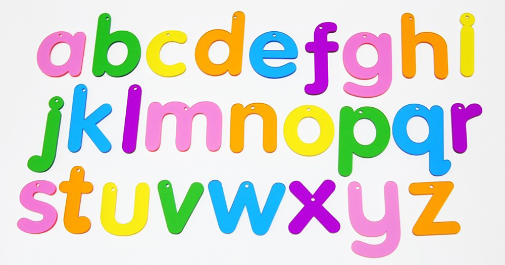 Rainbow Letters Small 7cm