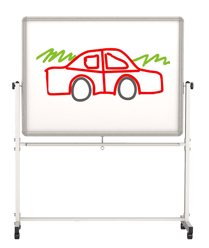 Billy Kidz Mobile Whiteboard or Big Book Easel - 120 x 90 x 182cmH
