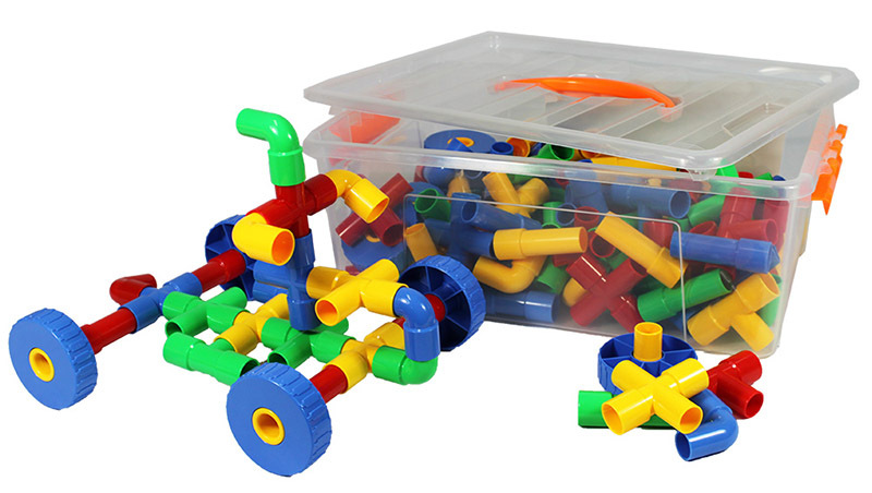 Billy Kidz Construction Set - Pipe Tubes 128pcs