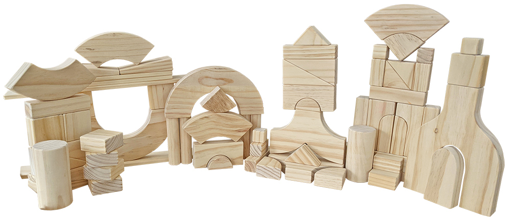 Unit/Project Block Set of Alternative Shapes - 70pcs