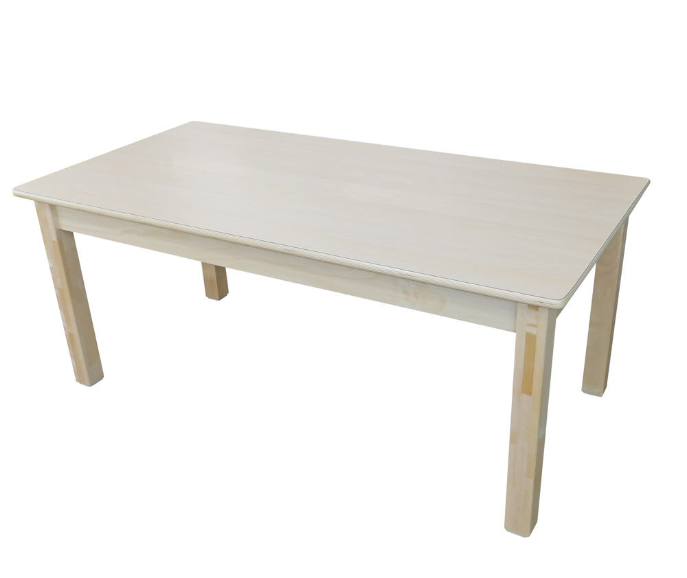 Billy Kidz Wooden Table With Birch Laminate Top - Rectangle 1200 x 600mm 28cmH