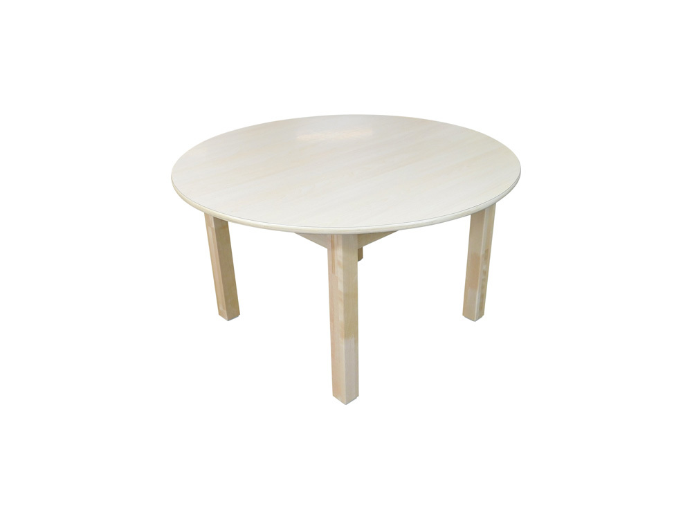 Billy Kidz Wooden Table With Birch Laminate Top - Round 900 x 900mm 45cmH