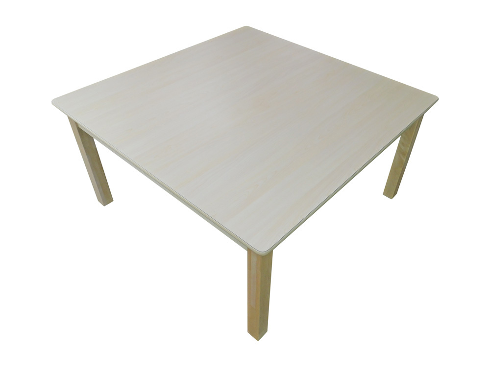 Billy Kidz Wooden Table With Birch Laminate Top - Square 1000 x 1000mm 45cmH