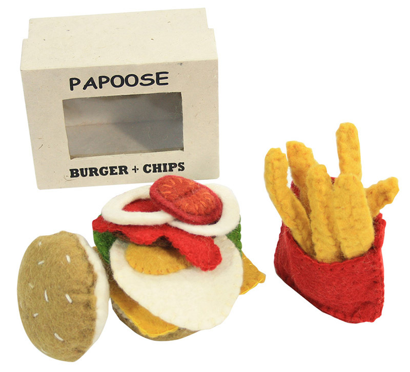 Felt Burger & Chips - 18pcs