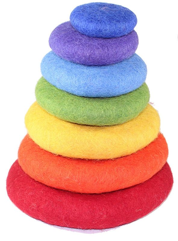 Felt Stacking Rocks - Rainbow 7pcs