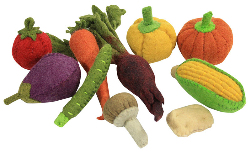 Felt Vegetable Set - 10pcs