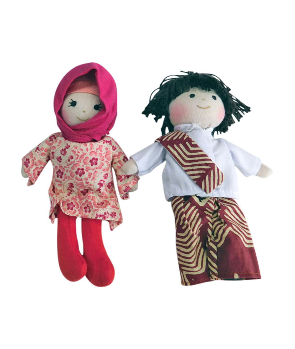 Cultural Boy & Girl Mini Dolls 16cm - Muslim