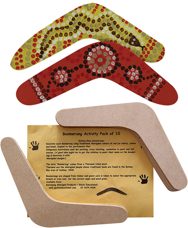 Make Your Own Wooden Boomerang - 10pk