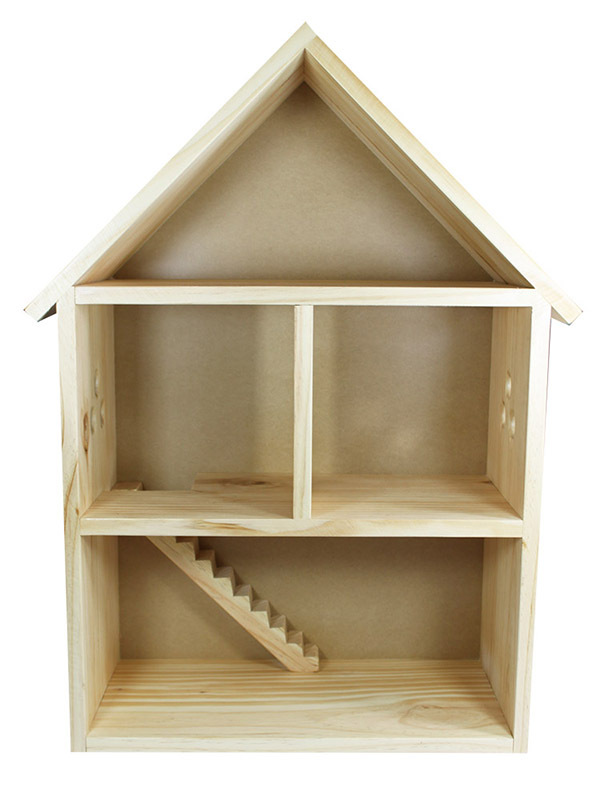 Timber Dolls House with 4 Rooms