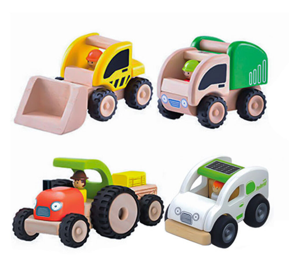 Wonderworld Mini Occupations Vehicles - Set of 4