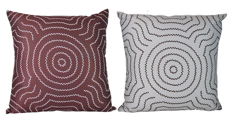 Outdoor Aboriginal Design Cushion - Water Dreaming