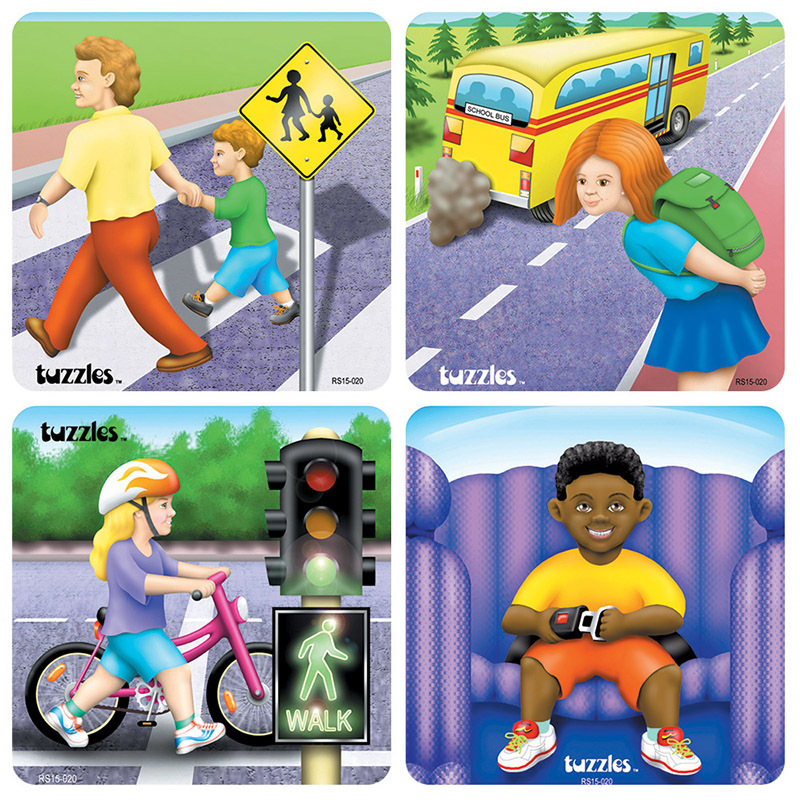Tuzzles Road Safety Puzzles - Set of 4