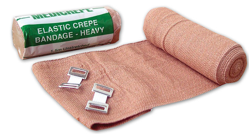 Crepe Bandage Heavy Weight - Brown 4m x 7.5cm