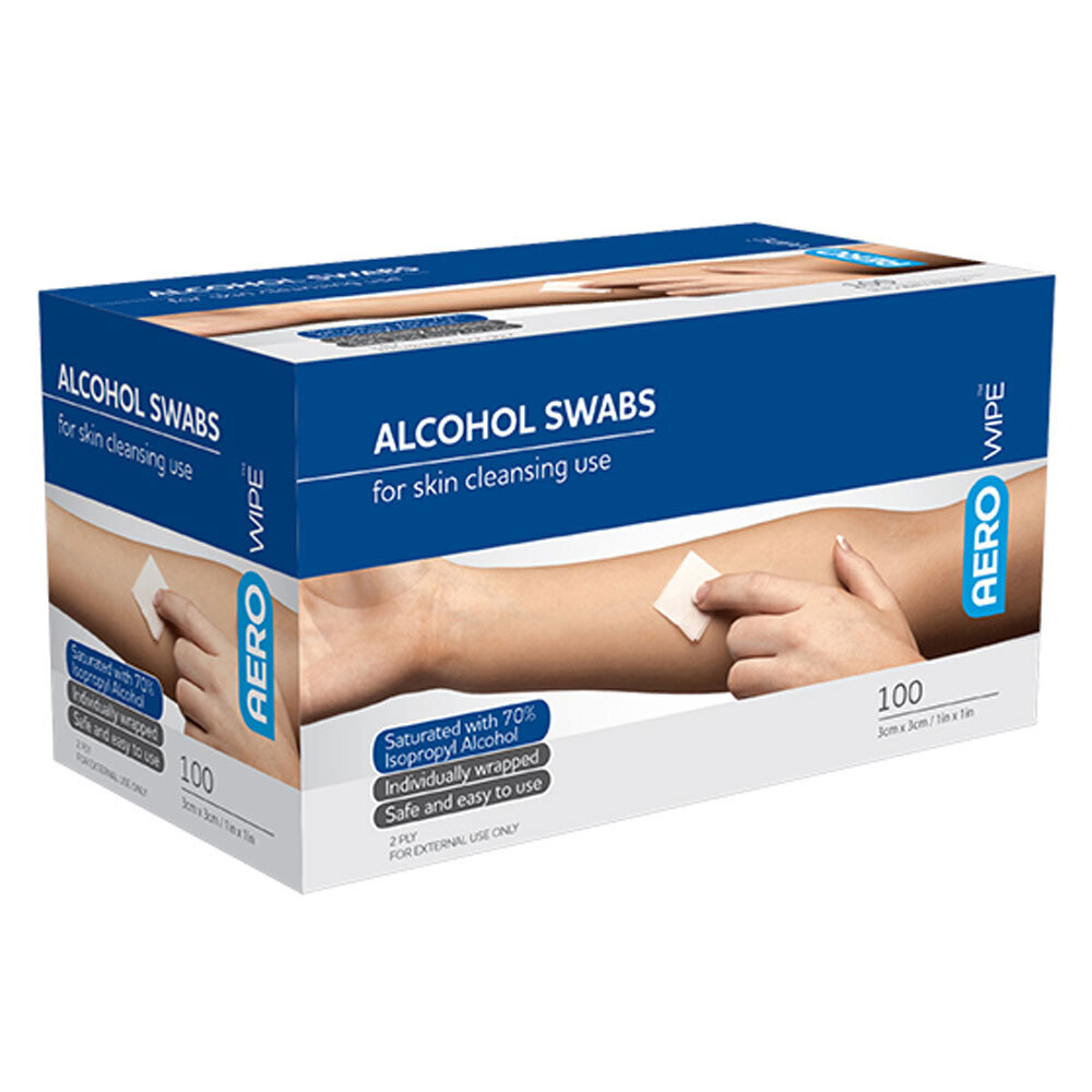 Antiseptic Sterile Alcohol Wipes - 100pk