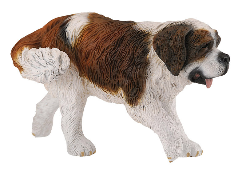 CollectA Cats & Dogs Life Replica - St Bernard 10 x 5cmH