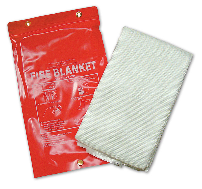 Fire Blanket in Pull Open Case - 1.2 x 1.2m