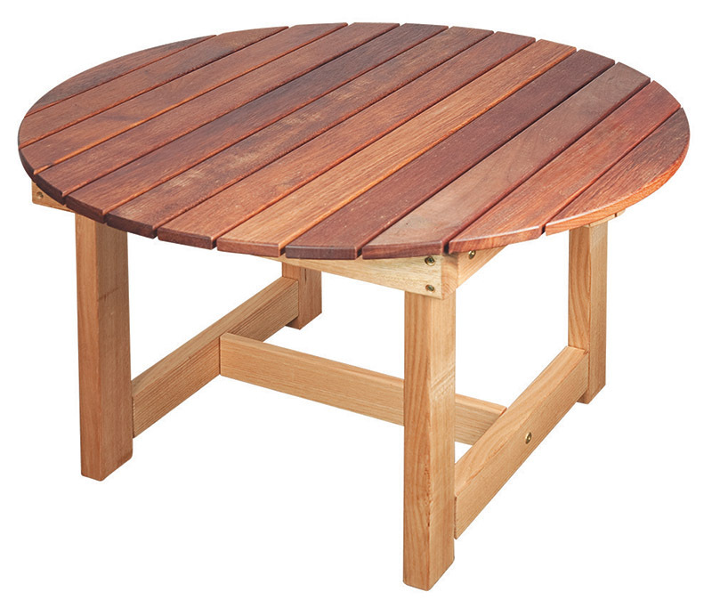 Jarrah & Hardwood Outdoor - Round Table 90 x 90 x 50cmH