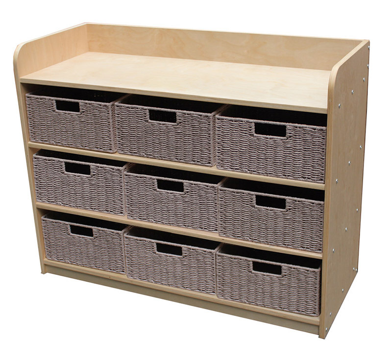 Birch Standard Storage Unit - With 9 Rope Baskets in Neutral