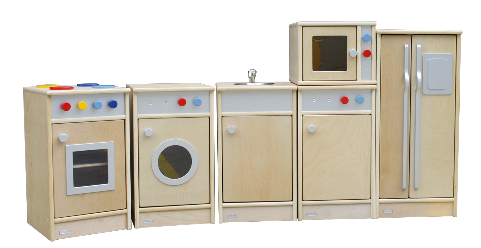 Birch Natural Role Play Toddler Kitchen Set - 6pcs