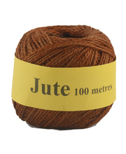 Jute Cord 2 Ply Roll 100m - Brown