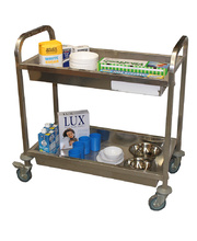 Stainless Steel Multi Purpose Trolley - 2 Shelf