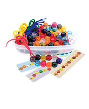 Rainbow Beads & Threaders - 100pcs