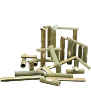 Bamboo Channel Construction & Water Play - 40pcs