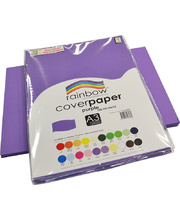Rainbow Cover Paper 125gsm A3 100pk - Purple