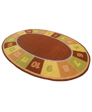 Natural Seating Carpet Mat - Oval Numbers 1-20 3 x 2m