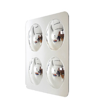 Acrylic Wall Mirror Panel with Four Dome Convex Mirrors