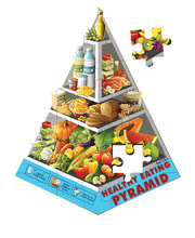 Tuzzles Healthy Eating Pyramid Floor Puzzle - 27pcs
