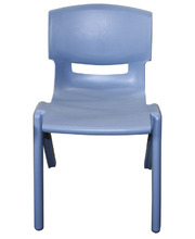 Billy Kidz Resin Stackable Chair Blue/Grey - 33.5cm