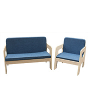 Billy Kidz Wooden Goteborg Sofa - 2pc Set