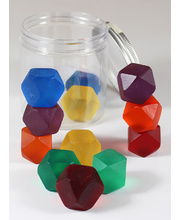 Rainbow Resin Portable Play Jar - Gem Stones 12pcs