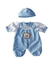 *Doll Clothes for 21cm Doll - Blue Romper & Hat