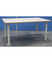 Billy Kidz Rectangle Table 1200 x 750mm Birch - Cream Legs Junior 50cm