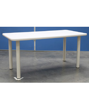 Billy Kidz Rectangle Table 1200 x 600mm Neutral - Cream Legs Primary 56cm