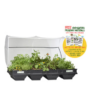 Vegepod Raised Garden Bed with Garden Cover - Large 2 x 1m